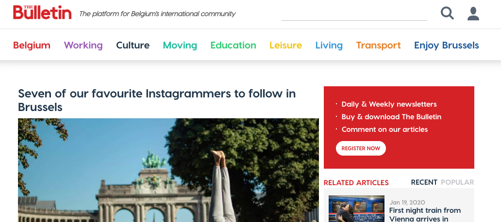 The Bulletin : Seven of our favourite Instagrammers to follow in Brussels